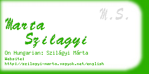 marta szilagyi business card